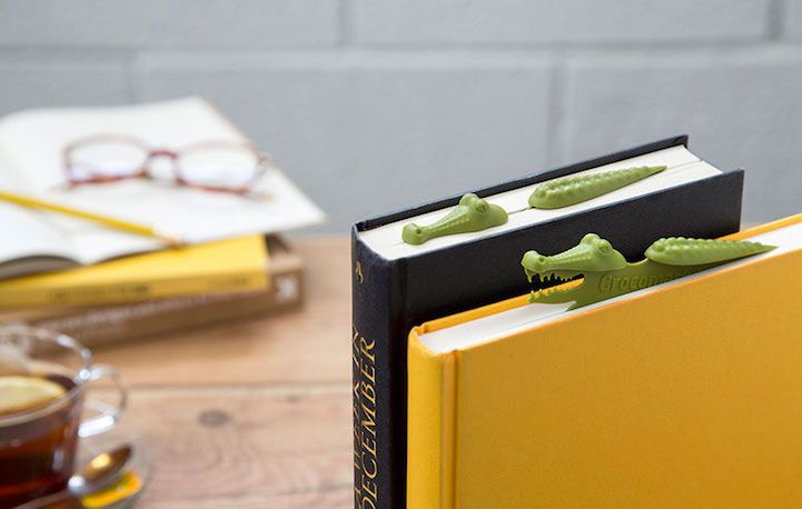 Fun Animal-Themed Bookmarks Silently Lurk Below the Pages to Hold Your Spot | My Modern Met