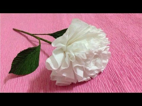 How To Make Rose Crepe Paper Flowers Flower Making Of Crepe