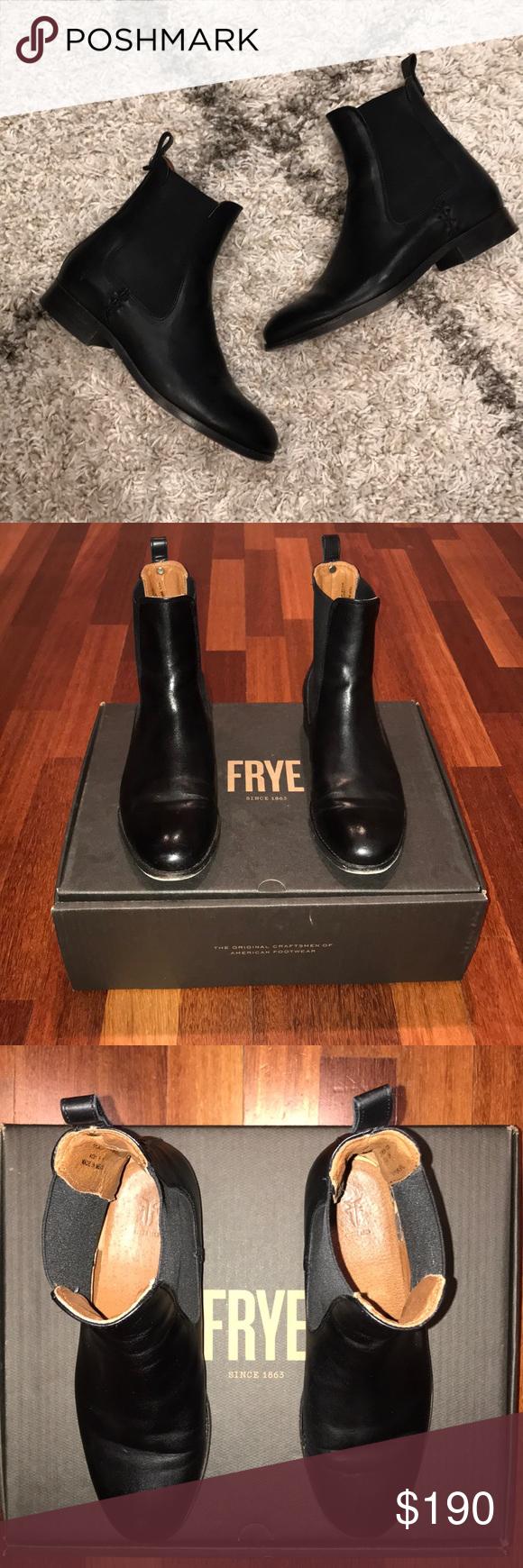 c0a92ecb310 Frye Melissa Chelsea boot Frye Melissa Chelsea black leather boot ...