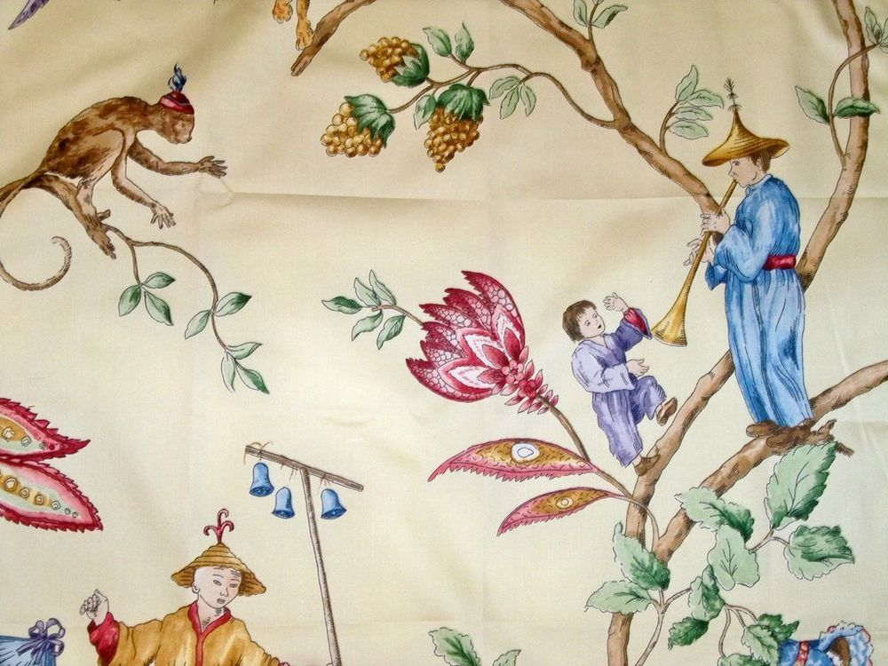 Stroheim Romann Cathay Chinoiserie Toile Fabric 10 Yards