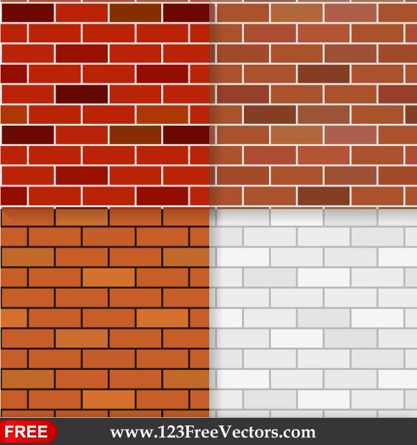 Brick Wall Texture Seamless Pattern Background Vector Vector Background Pattern Brick Patterns Seamless Patterns