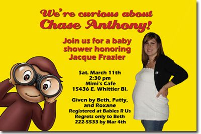 Great curious george baby shower invitations pict like the wording curious george invite baby shower party ideas pinterest filmwisefo