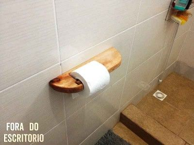 How To Make A Toilet Paper Holder Out Of Pallets And Broomstick Wood.Have  That Rustic And Beautiful Look In Your Bathroom.Portuguese Version  Available At.