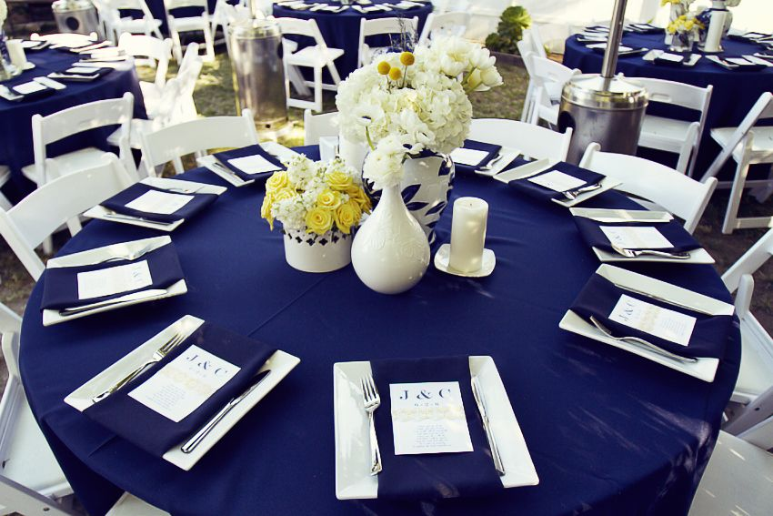 436d7b9615ed Blue and Gold Watercolor Inspiration turned Real-Life Vow Renewal ...
