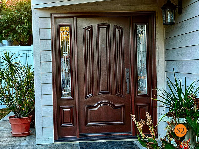 After Jeld Wen Aurora Classic Styled Door Mahogany Grain