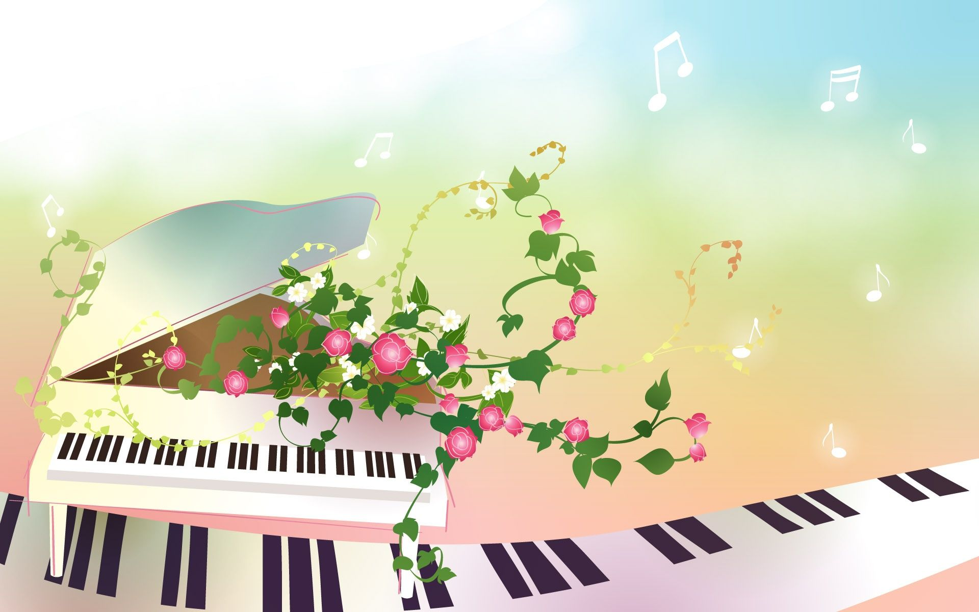 Preview Of Flower Piano Picture Hd Wallpaper Wallpapers Background