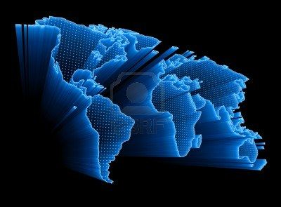 8929119 3d world map with dots and lights representing the digital 8929119 3d world map with dots and lights gumiabroncs Images