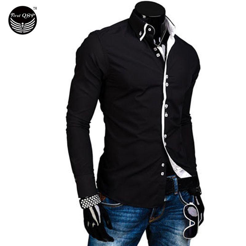 الرجال قميص ماركة فاخرة 2017 الذكور طويلة الأكمام قميص عارضة الصلبة متعددة زر ضرب اللون سليم صالح قمص Long Sleeve Shirt Men Mens Shirt Dress Shirt Dress Casual