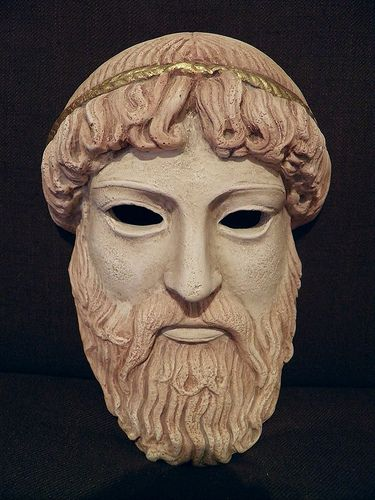 I think this mask would be good for Creon because it looks calm ...