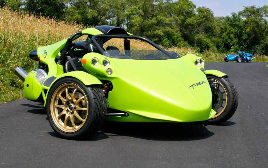 campagna motors t rex and v13r the original 3 wheels vehicle with a motorcycle engine and. Black Bedroom Furniture Sets. Home Design Ideas