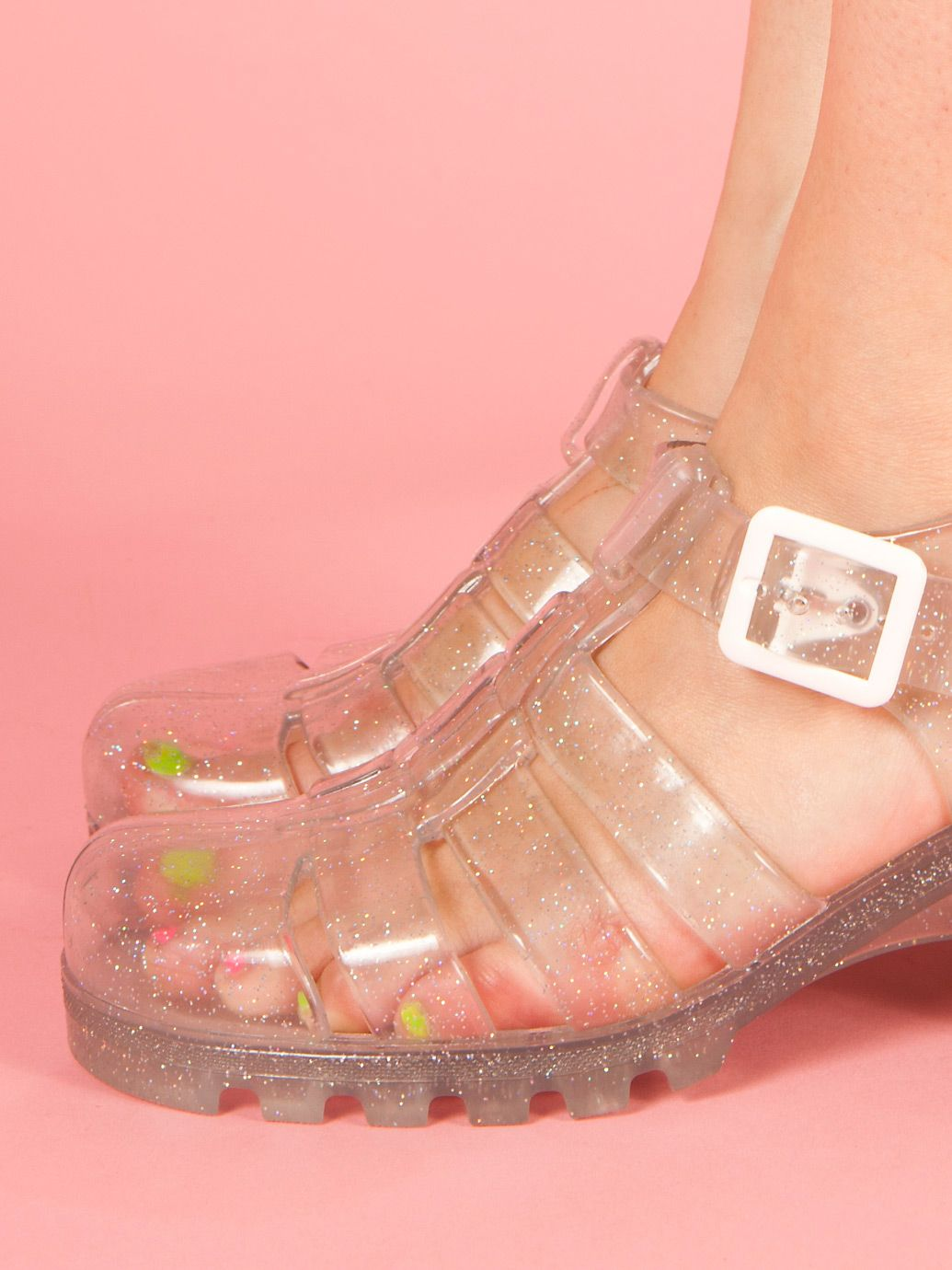 c6a3cdccd797 Juju Babe Jelly Sandals from American Apparel.