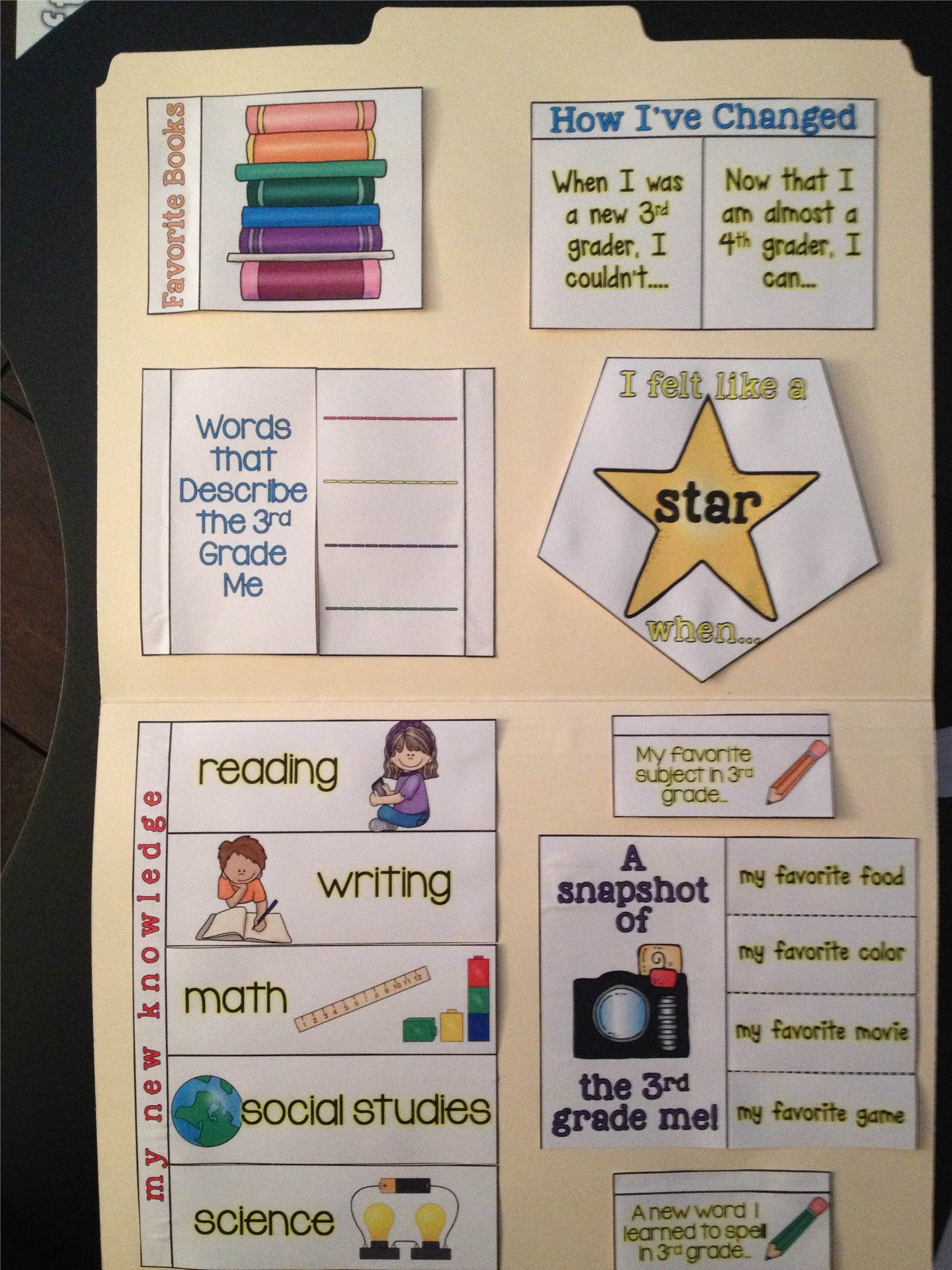 End Of Year Lapbook 2nd And 3rd Grade Teaching Ideas Classroom Goal Setting