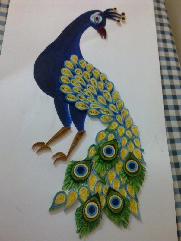 Как сделать открытку павлин пошагово