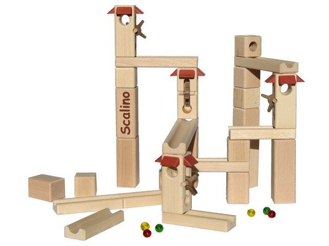 Scalino Wooden Marble Run