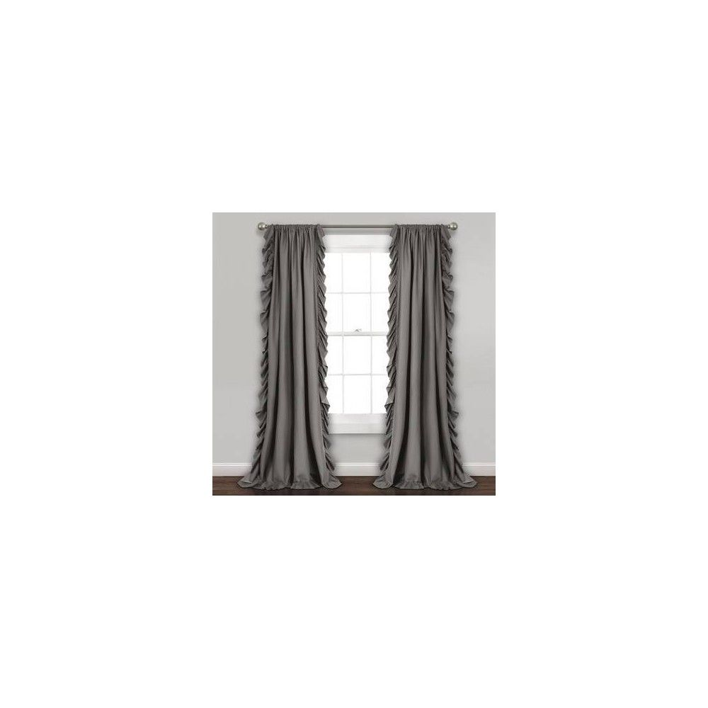 95 X54 Reyna Light Filtering Window Curtain Panel Gray Lush