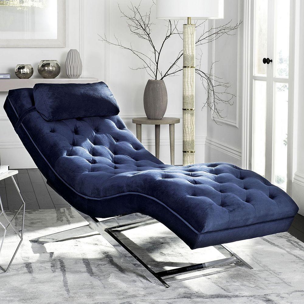 Safavieh Monroe Chaise Lounge Chair Headrest Pillow 2 Piece Set