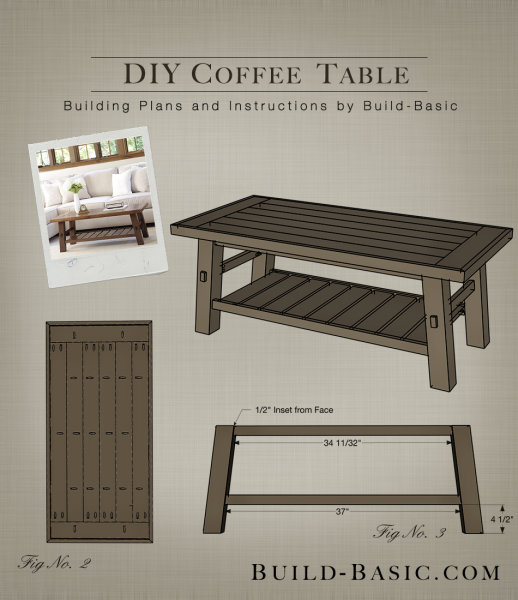 Easy Diy Coffee Table With Free Building Plans And Step By Step Tutorial With Pictures Project By Diy Furniture Plans Diy Coffee Table Woodworking Table Plans