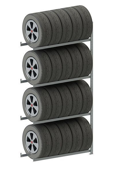 Meta Storage Solutions Inc Clip S3 Tire Storage 4 Shelf Shelving