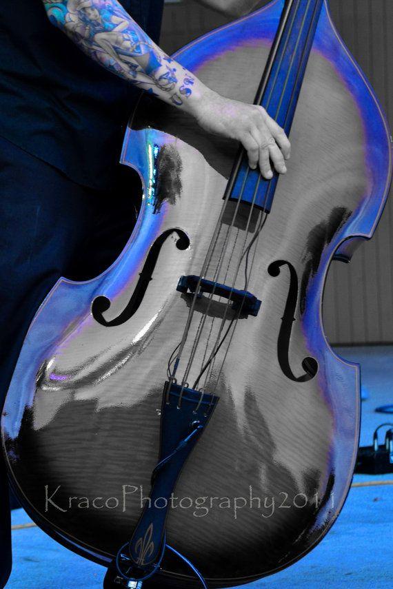 $25.00 (Colorized blue upright bass)