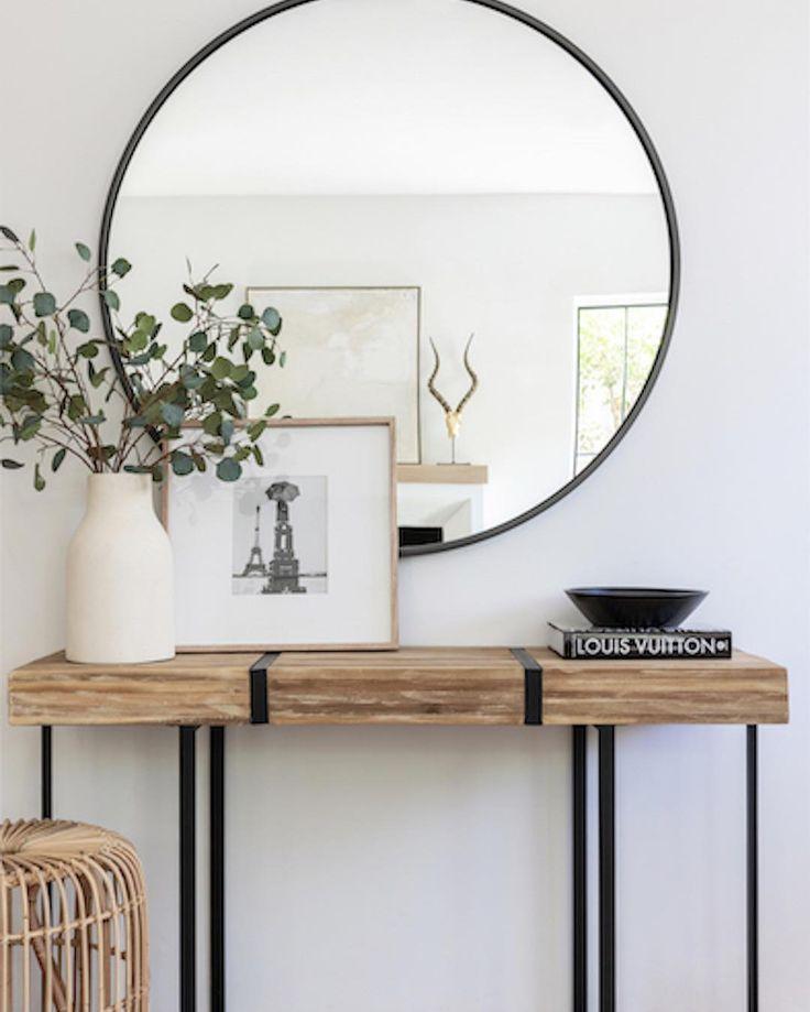 Photo of Melissa Shapiro Interiors on Instagram: Natürliche organische Materialien juxtapose Entryway Decor