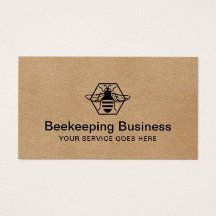 Bee beekeeping fresh honey apiary kraft business card vintage bee beekeeping fresh honey apiary kraft business card vintage gifts retro ideas cyo reheart Image collections