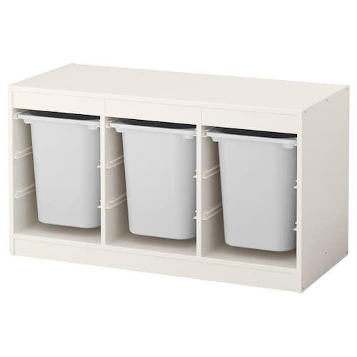 TROFAST Aufbewahrung mit Boxen - weiß, weiß - IKEA Deutschland