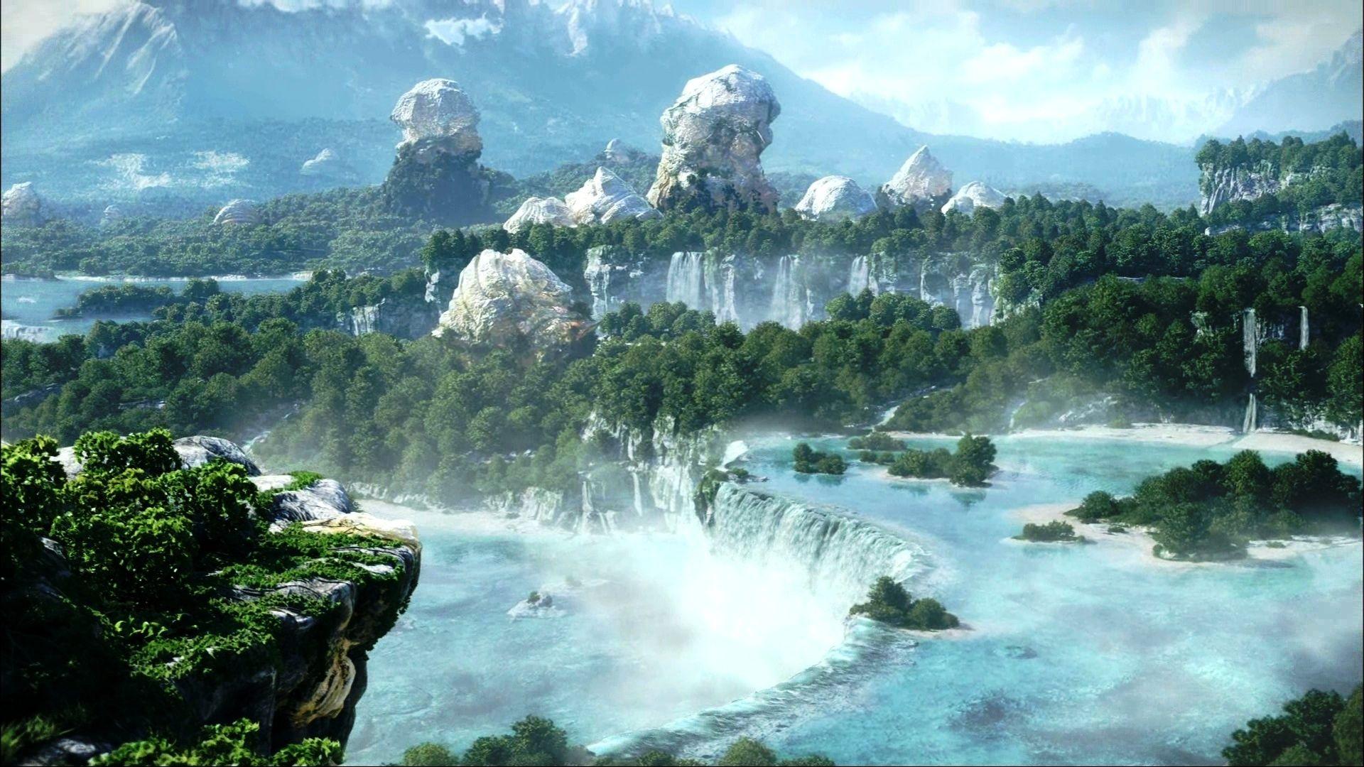 fantasy landscape | Alien Landscapes I Could Live With | Pinterest ... for Fantasy Water Landscape  45hul