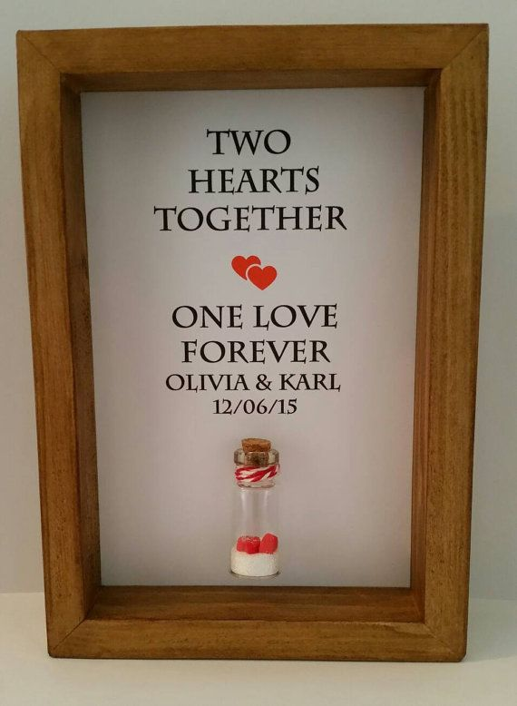 Unique Wedding Gift Anniversary Present For Couples Can Be Personalised With Names