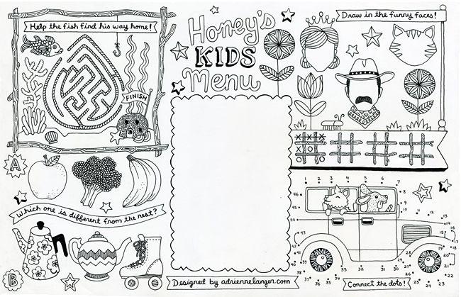 Kids Jpg 650 419 Pixels Kids Menu Kids Restaurants Coloring