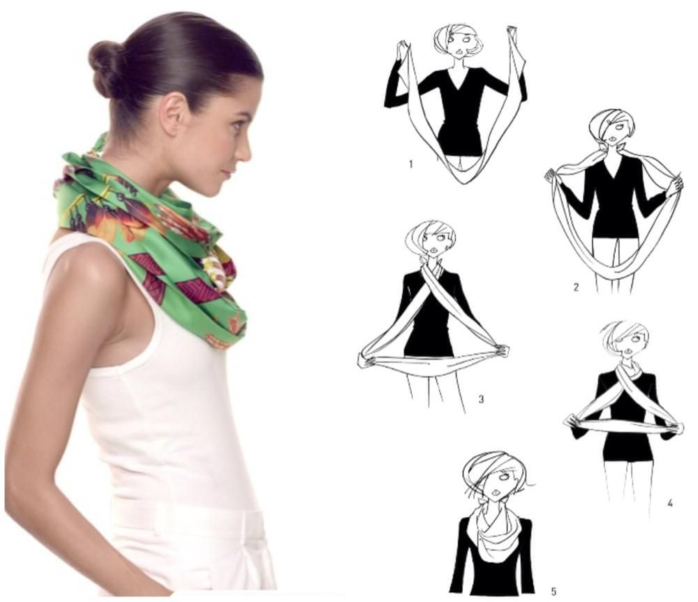 How to tie a scarf herm s scarf knotting cards double wrap mode schal knoten seide und - Hermes tuch binden ...