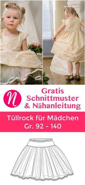 Tüllrock für Mädchen - Freebook in Gr. 92 - 140 | Pinterest ...