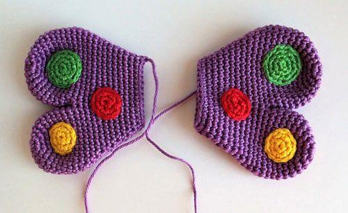 Mariposa traqueteo crochet patrón gratis | amigurumis | Pinterest ...