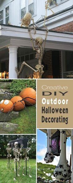 DIY Outdoor Halloween Decorating Outdoor halloween and Halloween ideas