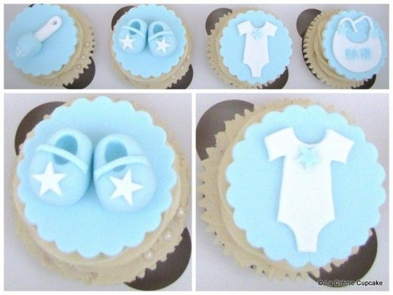 In Lieu Of A Cake You Can Do These Cute Baby Boy Cupcakes Baby
