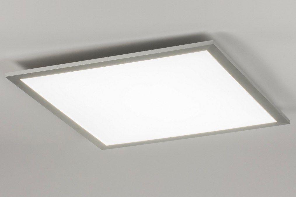 Strakke Vierkante Plafondlamp 62cm Uitgevoerd In Een