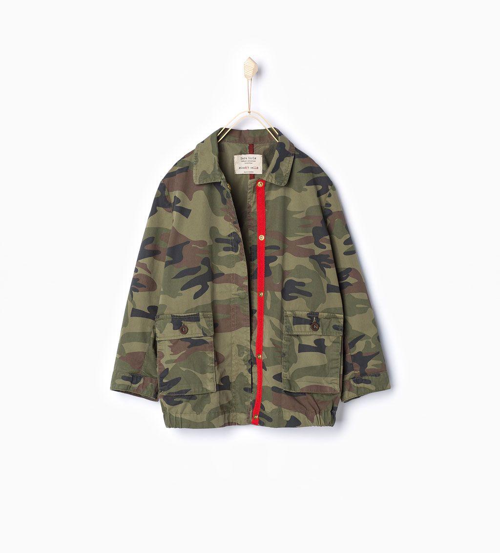 Un Imprimé Zara Veste Enfants Camouflage Avec f67yYbg