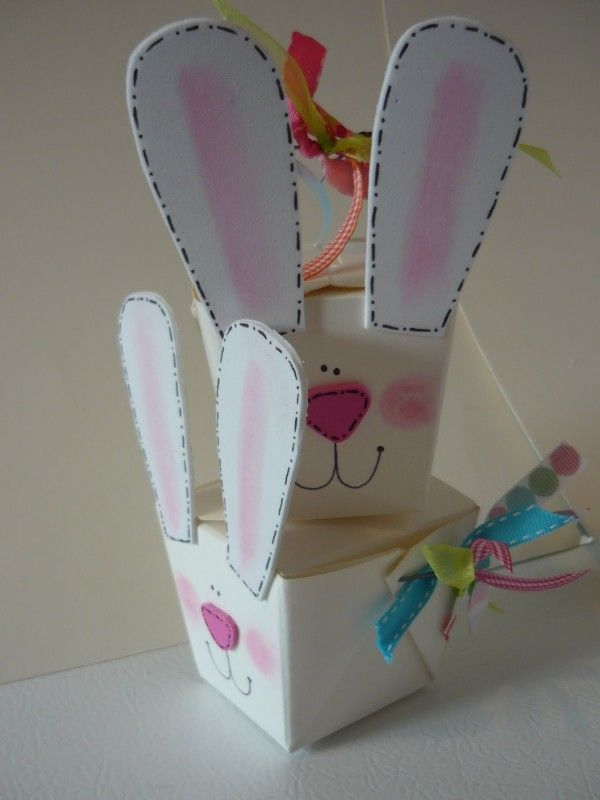 easter kids crafts take out box bunny