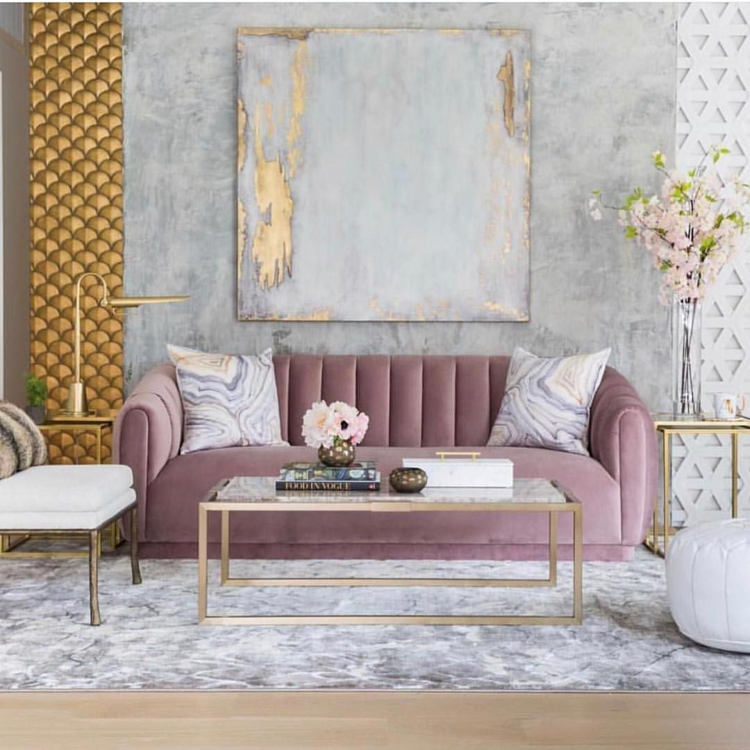 Pink And Gold Never Disappoints By @highfashionhome Via