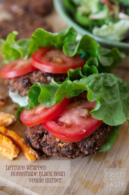 Homemade Black Bean Veggie Burger