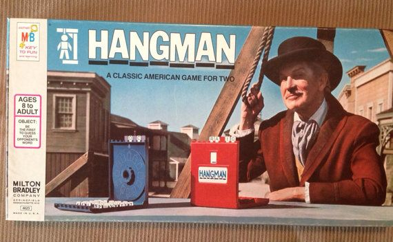 Hangman by Milton Bradley by SouthernYankeeFinds on Etsy, $8.00