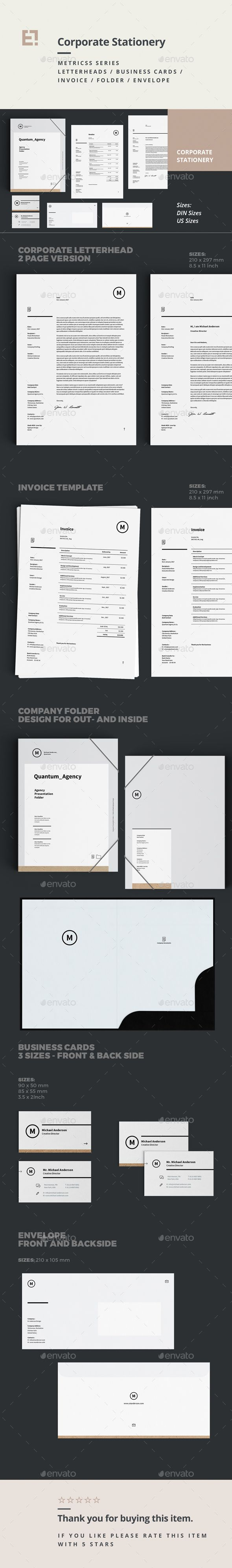 Stationery Template InDesign INDD