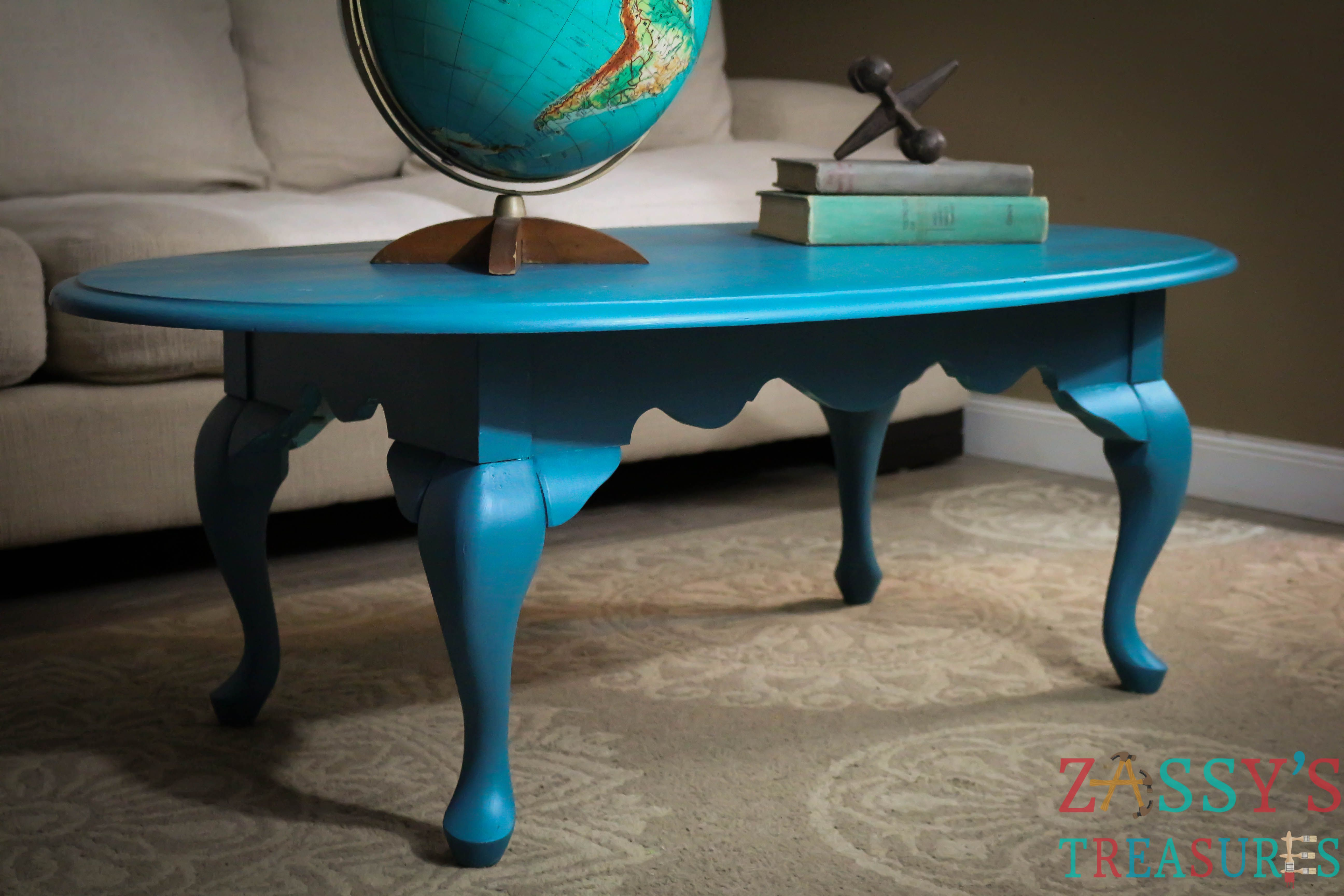 Old Coffee Table Painted with RePurpose™ Paint Color ...