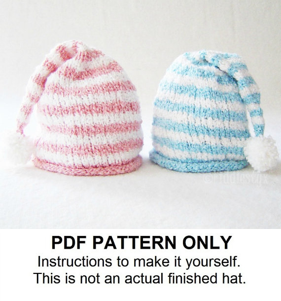 Knit Hat Knitting Pattern  Stocking Hat by FiddlestyxStudios, $5.50