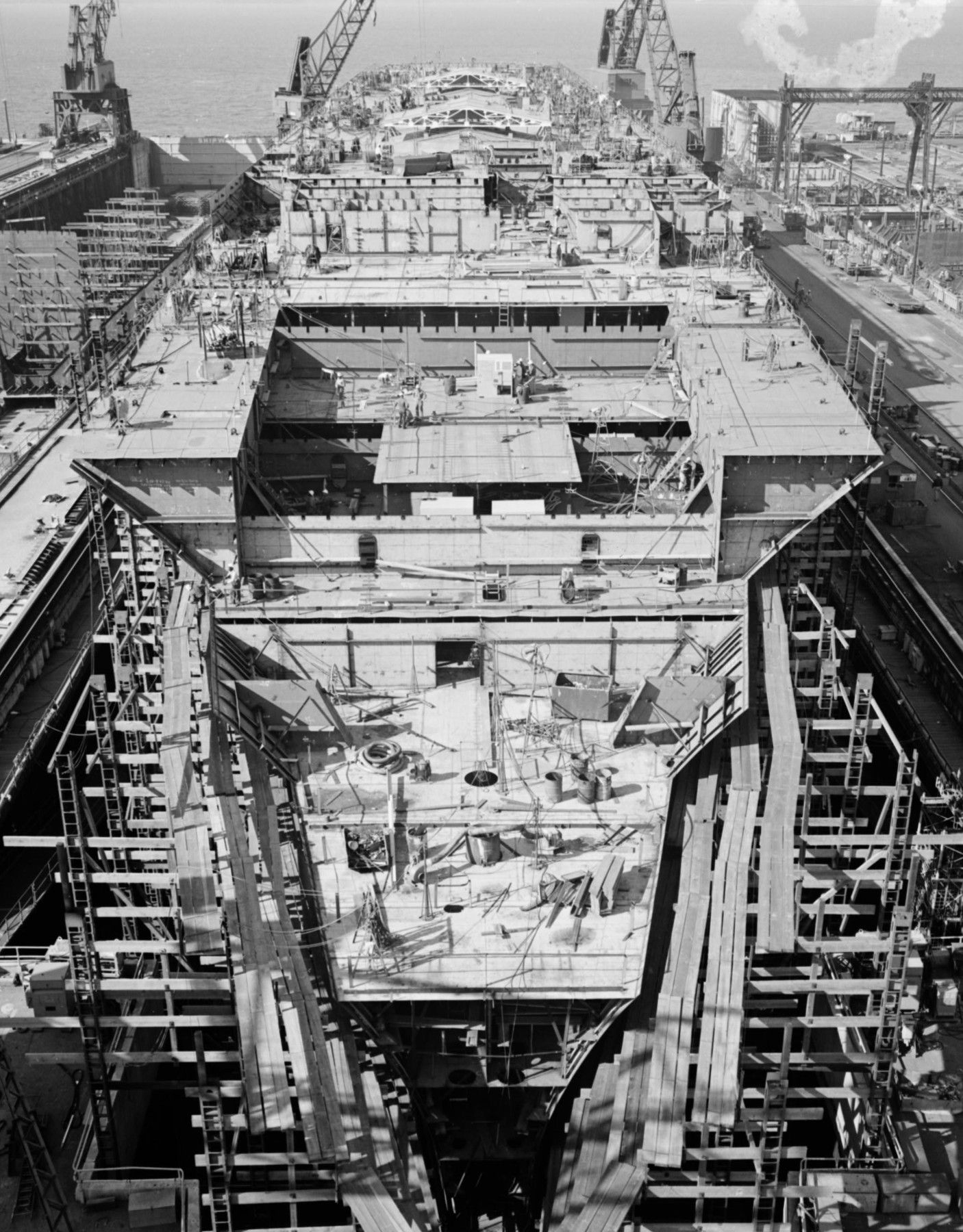 USS Nimitz CVN 68 ca.1979-Naval Ship Photo Print USN Navy