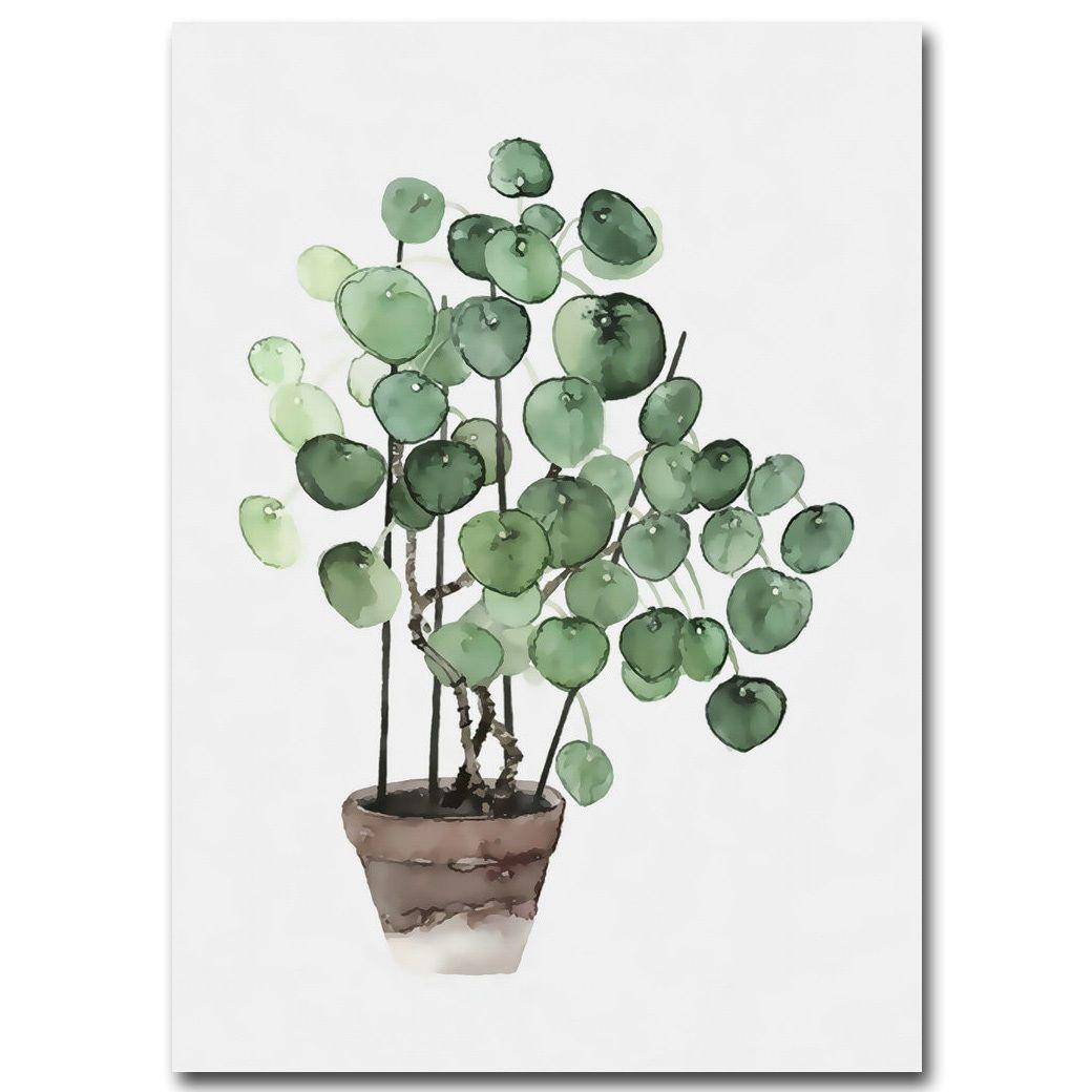Tropical plants leaves canvas vintage poster wall art prints modern