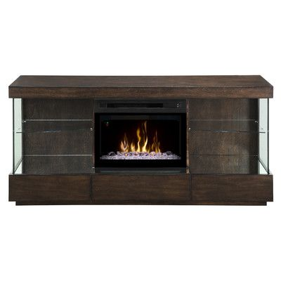 Dimplex Camilla TV Stand with Electric Fireplace Insert Style: Acrylic Ice