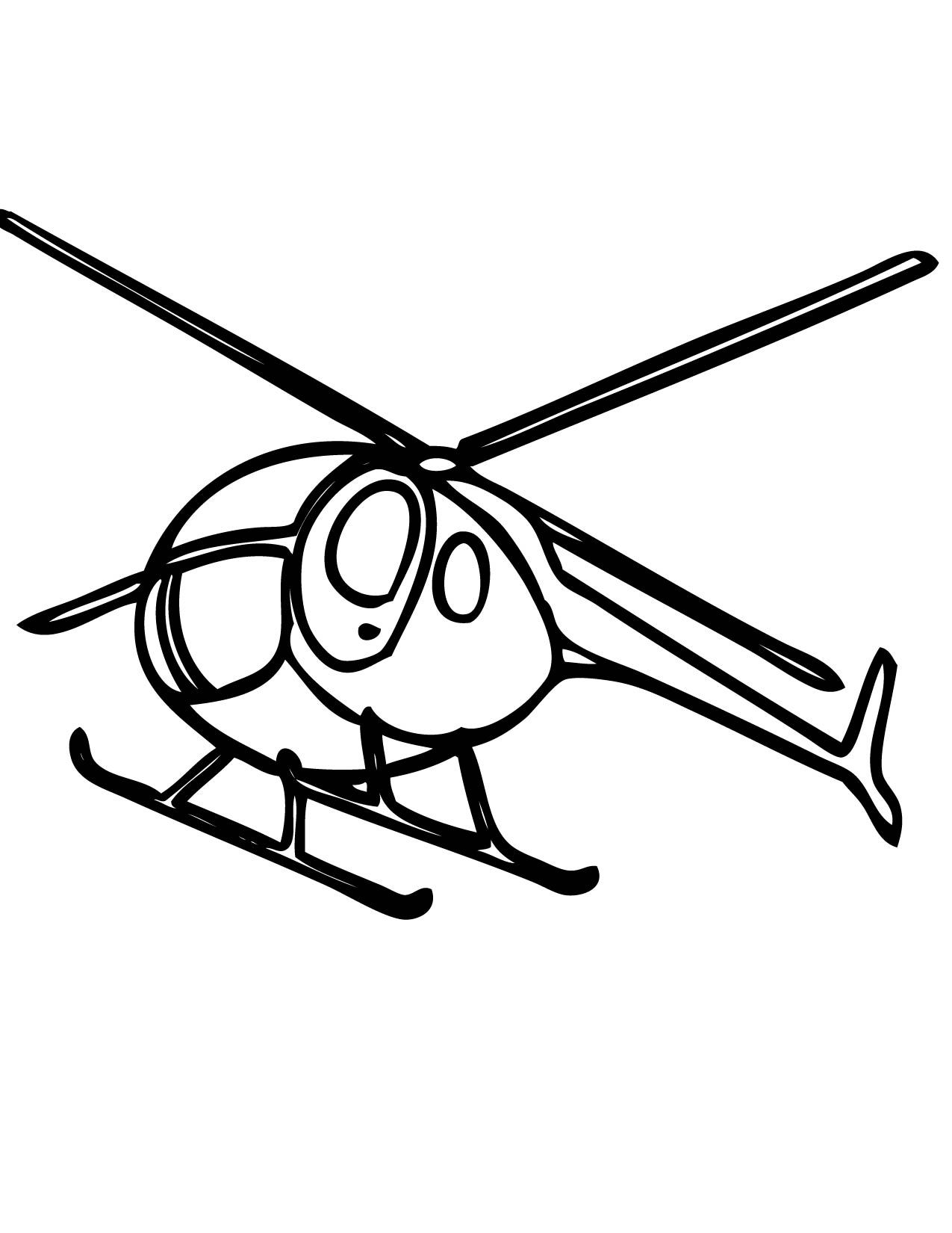 87 Coloring Page Helicopter