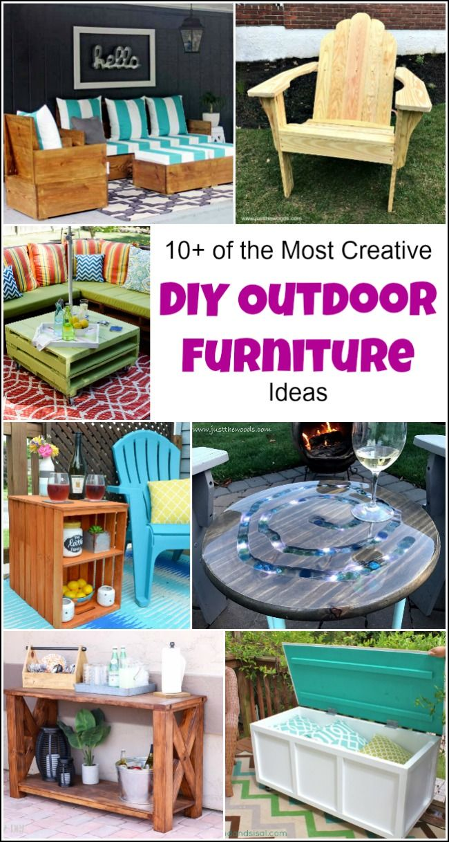 10 of the most creative diy outdoor furniture ideas diy outdoor 10 of the most creative diy outdoor furniture ideas diy outdoor furniture furniture projects and furniture ideas solutioingenieria Image collections