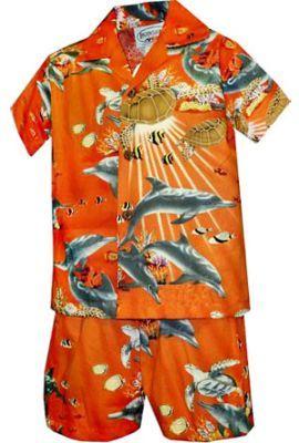4d18c010 Aloha Boy Cabana Set - Marine Life : Love the colors on this cute little  outfit! #boysclothes #hawaiianclothes Shaka Time Hawaii Clothing Store