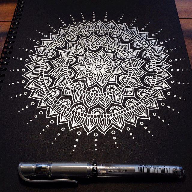 Silver Mandala by MagaMerlina, via Flickr